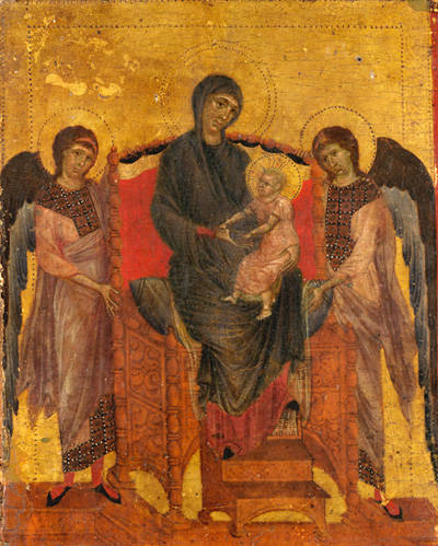 virgin mary and child enthroned His disciples spent three years with him, during his public ministry, but mary  spent thirty three years madonna and child enthroned with music-making  angels.