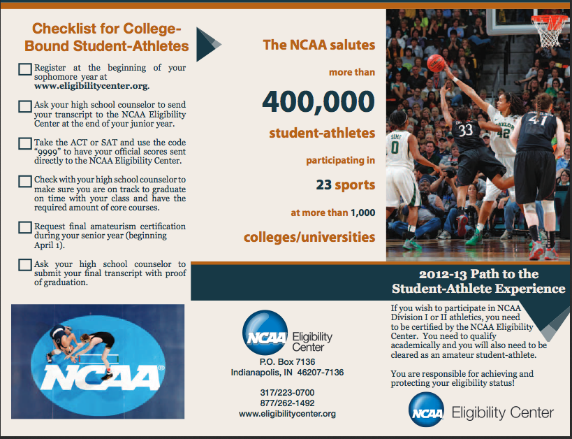 ncaas code of amateurism student athletes Since the national collegiate athletic association's (ncaa) inception in 1906 there have been laws in place to protect the amateurism status of its student athletes when the ncaa was incepted they created strict bylaws requiring student-athletes maintain amateur status (ncaa amateurism.