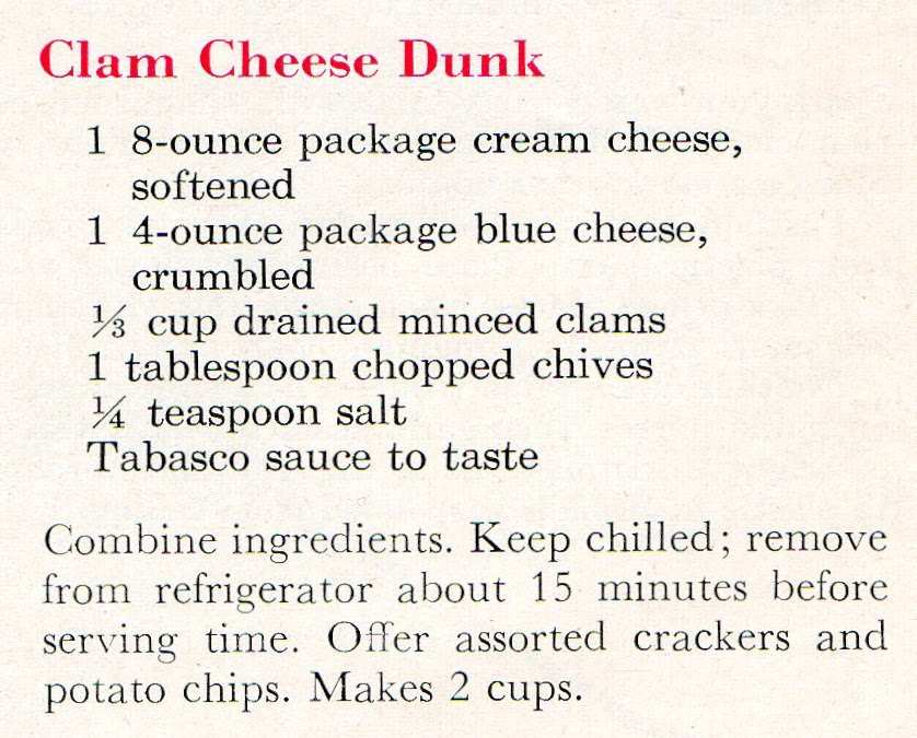 1950's New Years Eve Appetizers (quick recipe)