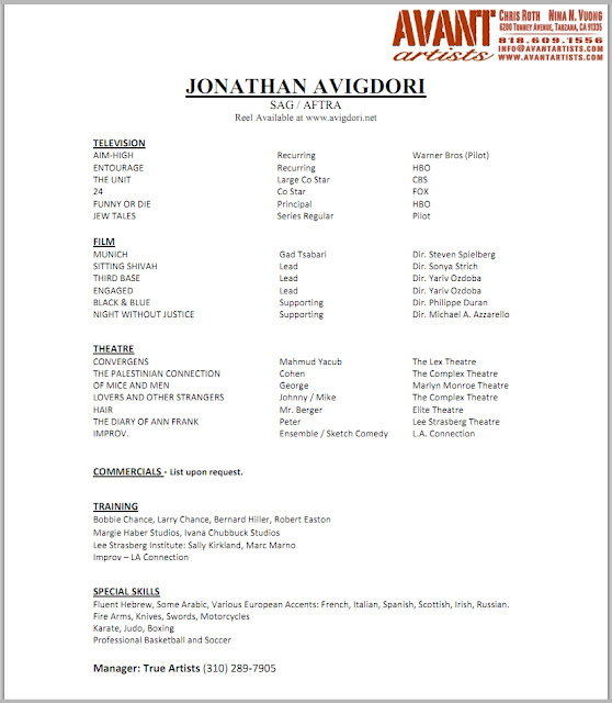 Acting Resume Template, Acting Resume Format Template, Acting resume ...