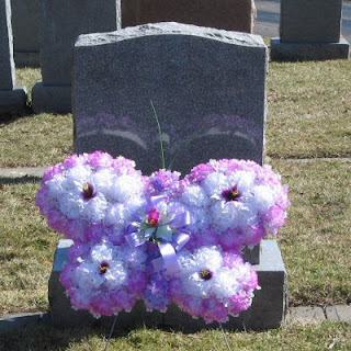 Lavender Silk Flower Butterfly Memorial