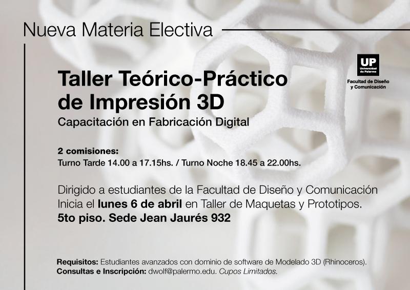 TALLER DE IMPRESION 3D