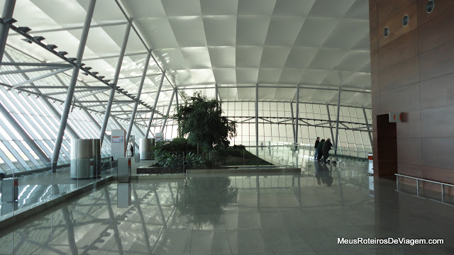 Terraço do Aeroporto Internacional de Carrasco - Montevidéu, Uruguai