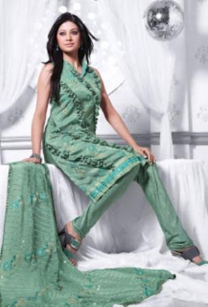 Pastel-Green-Churidar-Salwar-Kameez