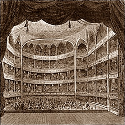 Old picture of the Theatre Royal, Drury Lane