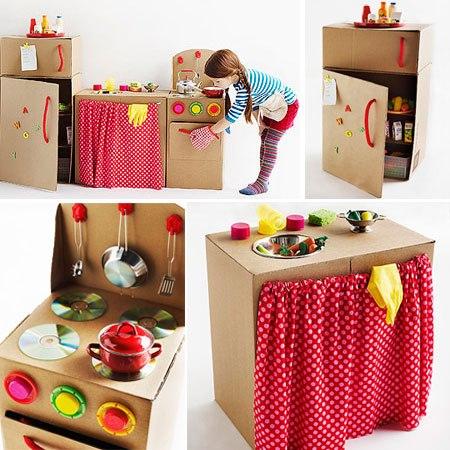 Cafran cocinas ideas para hacer una cocinita de cart n - Cajas para cocina ...