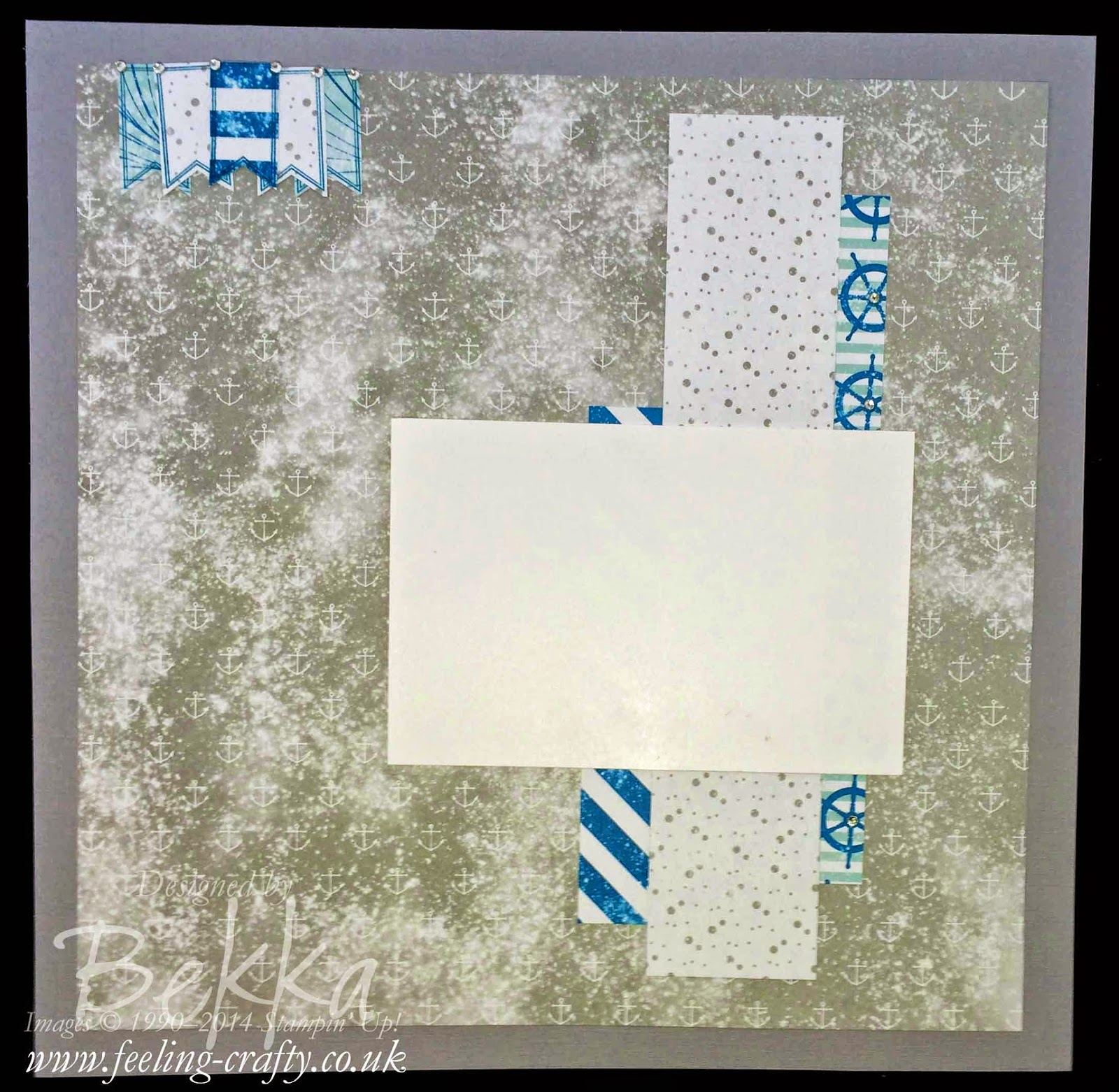 Scrapbook Page featuring the High Tides Stampin' Up! Papers - check this blog every Saturday for great Scrapbooking Ideas