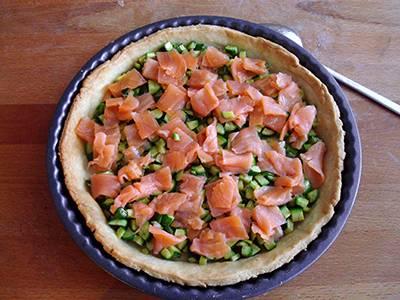 Procedimento Quiche salmone e zucchine - quattordicesimo passaggio