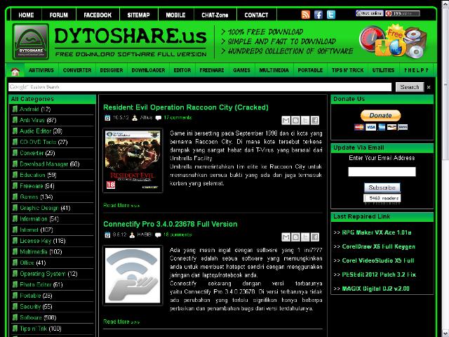 Template Blog Mirip Dytoshare Terbaru
