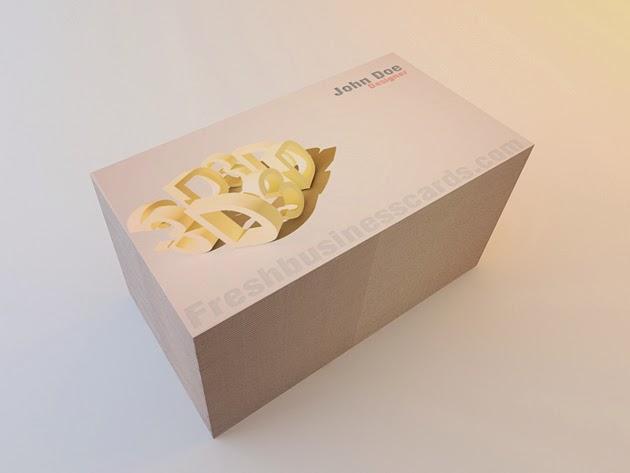Creative 3D Business Card Template PSD