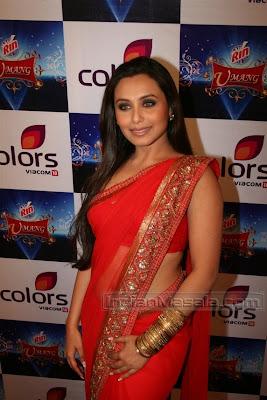 rani mukherjee in red saree