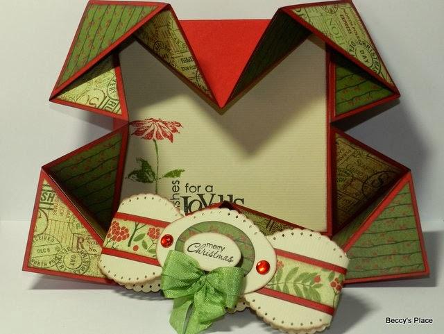 Beccys Place Tutorial Serviette Napkin Fold Cards