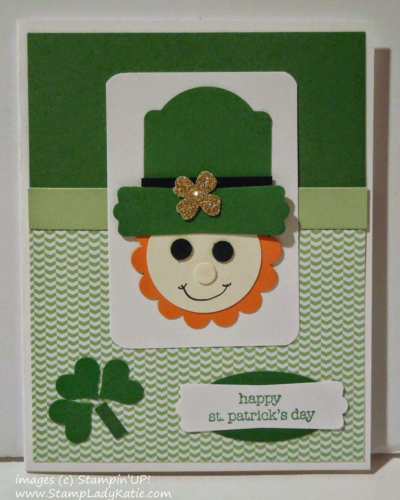 Leprechaun Punch Art card for St. Patrick's Day