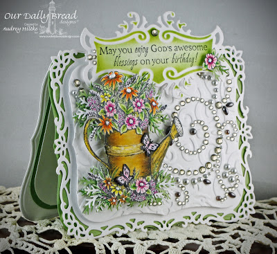 Watering Can Stamp & Die, All Occasion Sentiment