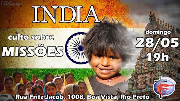 Culto de Missões sobre a Índia e Ásia