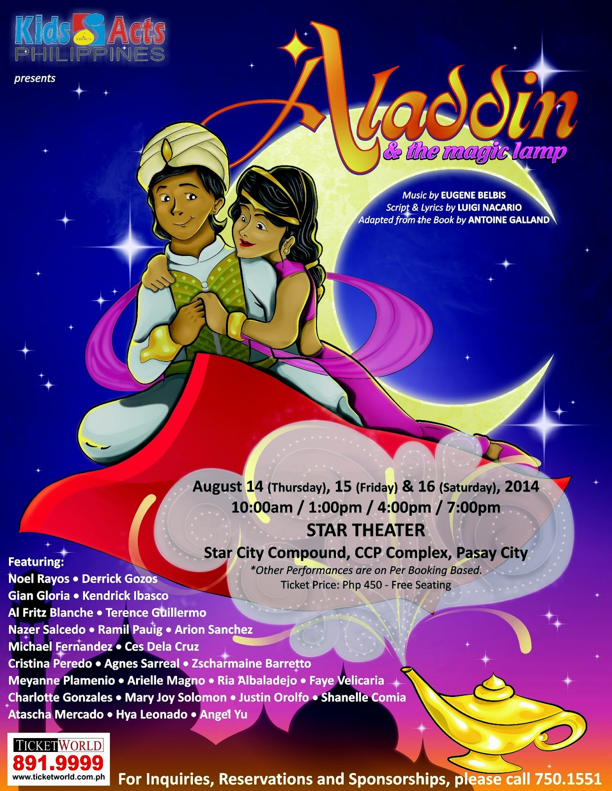 Kids Acts Philippines Presents Aladdin and The Magic Lamp ~ Wazzup ... for Aladdin And The Magic Lamp Book  83fiz