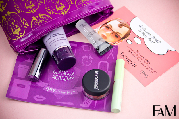 Ipsy Myglam Bag August 2013 - Review and Swatches
