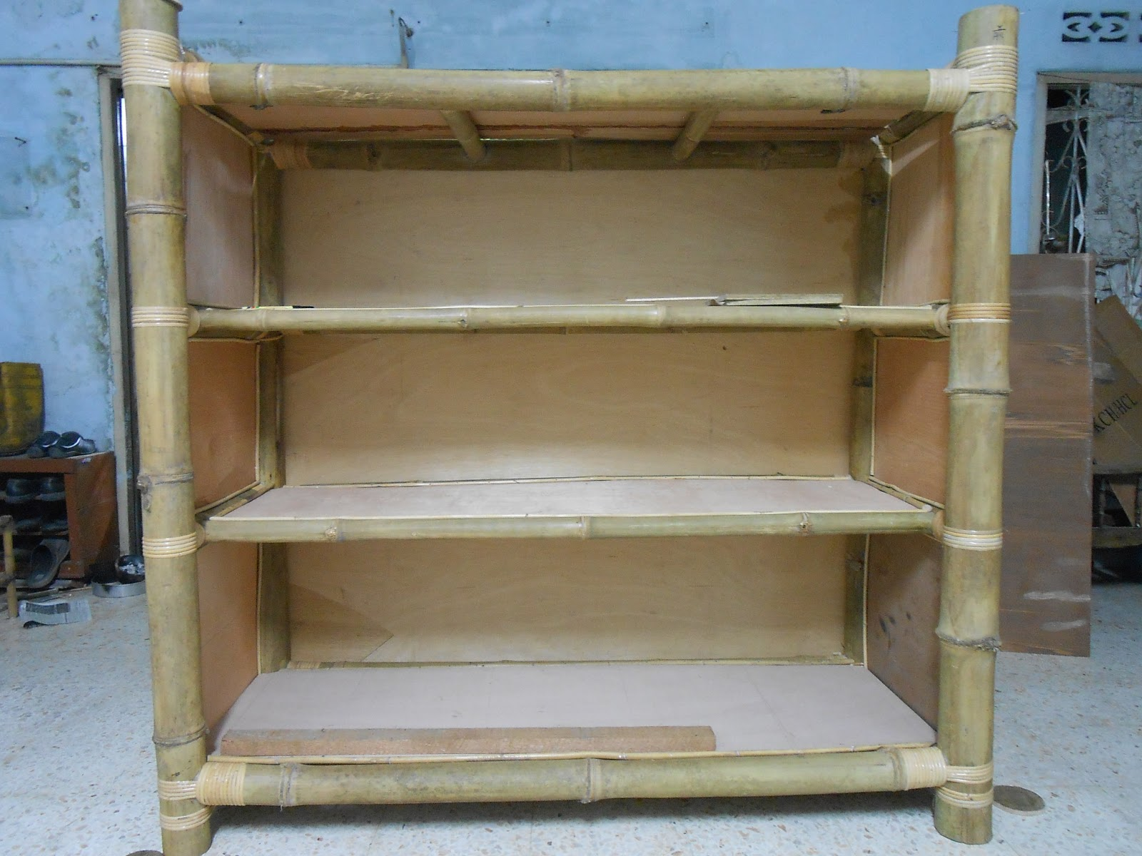 refurnish diy rattan bamboo furniture diy bamboo show case