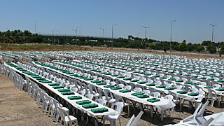 scène du record du monde de nombre de parties de backgammon