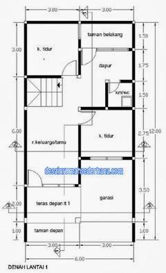 denah lantai m2 100 rumah luas 2 luas 100 bangunan rumah