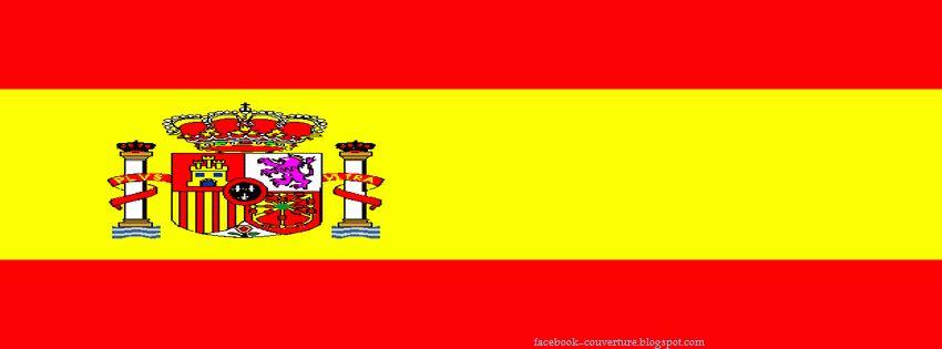 Couverture facebook drapeaux - Drapeau d espagne a colorier ...