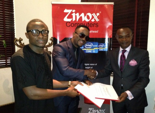 Iyanya signs Endorsement Deal with Zinox COMPUTERS