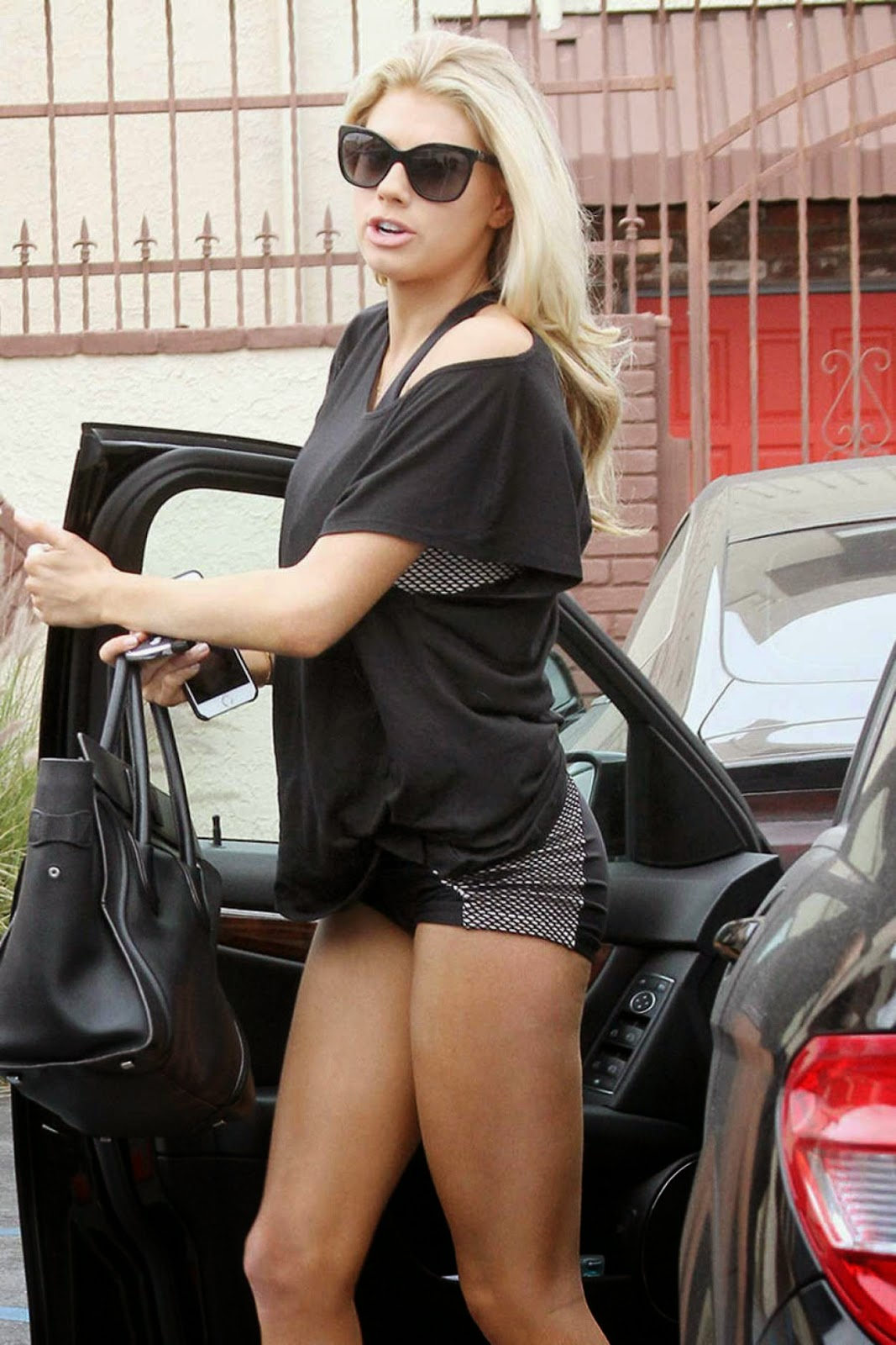 Fashion Model @ Charlotte McKinney - Dancing with the Stars rehearsal candids in Hollywood