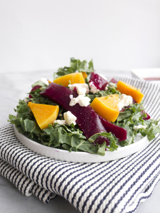 Winter Kale, Beet and Butternut Squash Salad | Healthfully Ever After