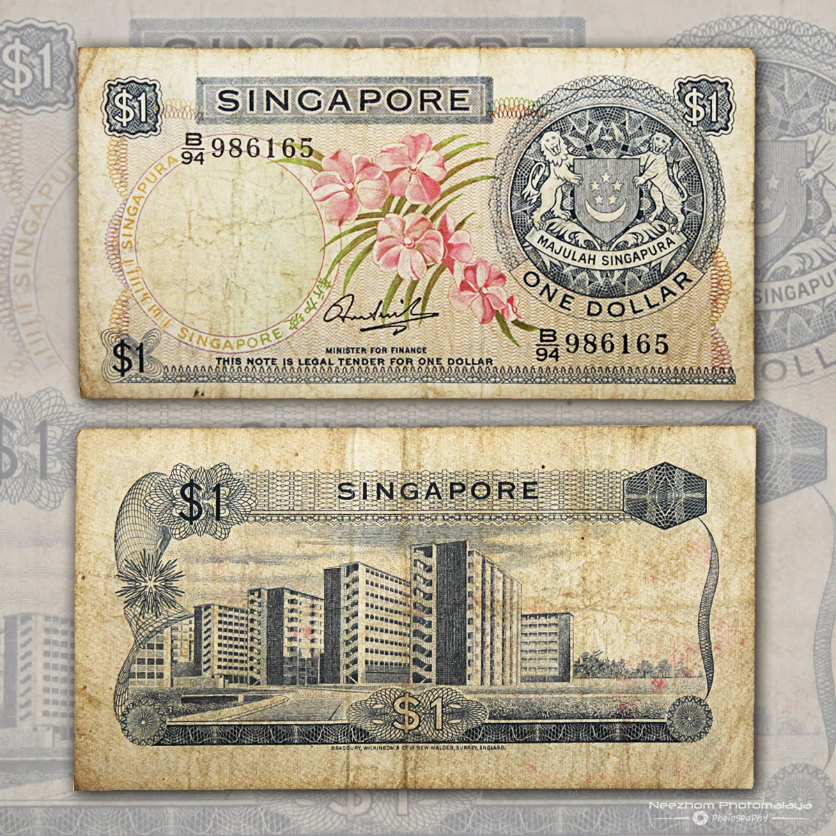 Singapore banknote 1 Dollar Orchid Series