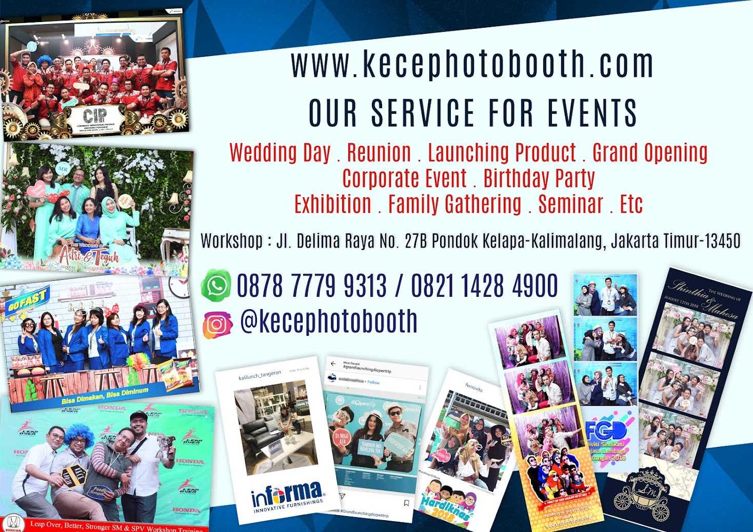 KECE Photobooth - Photobooth Jakarta, Bekasi, Depok, Tangerang dan Bogor
