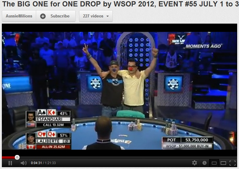 Big one drop poker results