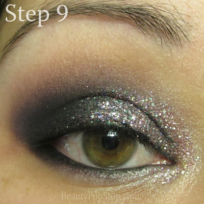 new year's eve makeup tutorial with lit cosmetics glitter in sugar and spice