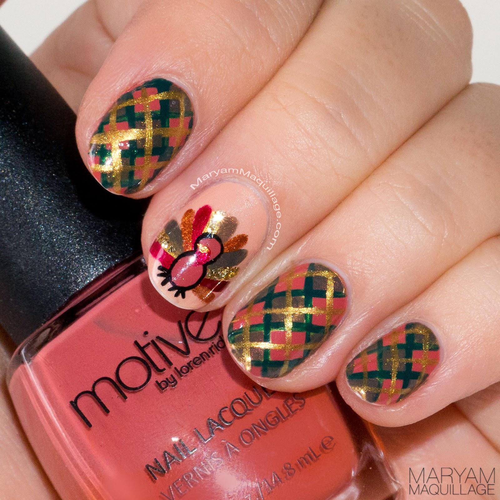 Maryam Maquillage: Fall Holiday Makeup & Thanksgiving Nail Art