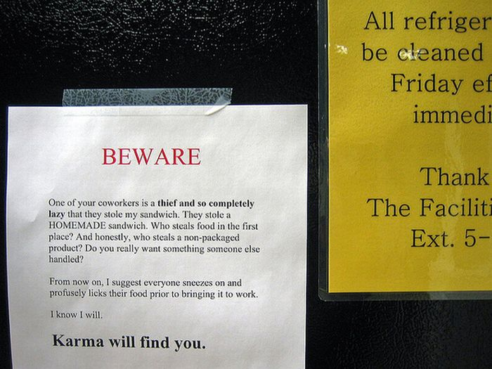 Funny Office Refrigerator Signs | just b.CAUSE