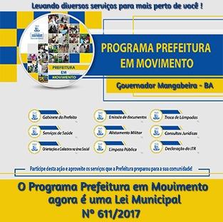 Gov.Mangabeira : Prefeitura em movimento!