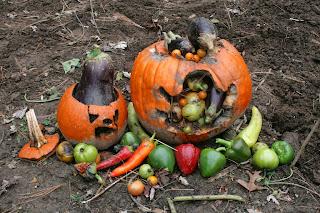 Decoración, Jardin, Halloween
