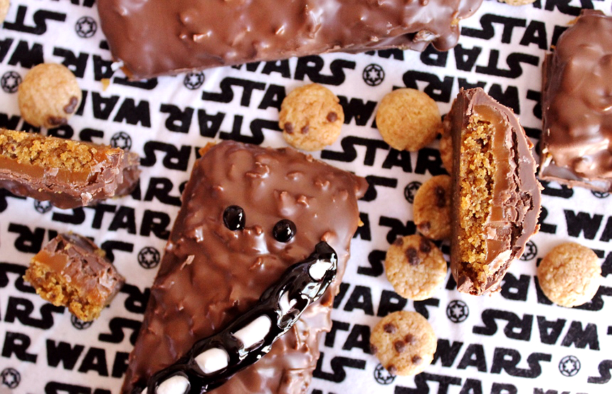 Coconut Caramel Cookie Candy Bars- Cookiee Chew-Bar-Cca bars- #AwakenYourTastebuds with StarWars™ limited edition General Mills cereals from Walmart, Star Wars™ Recipes, party ideas and more! (ad)