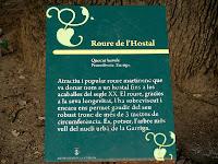 Placa informativa del Roure de l'Hostal