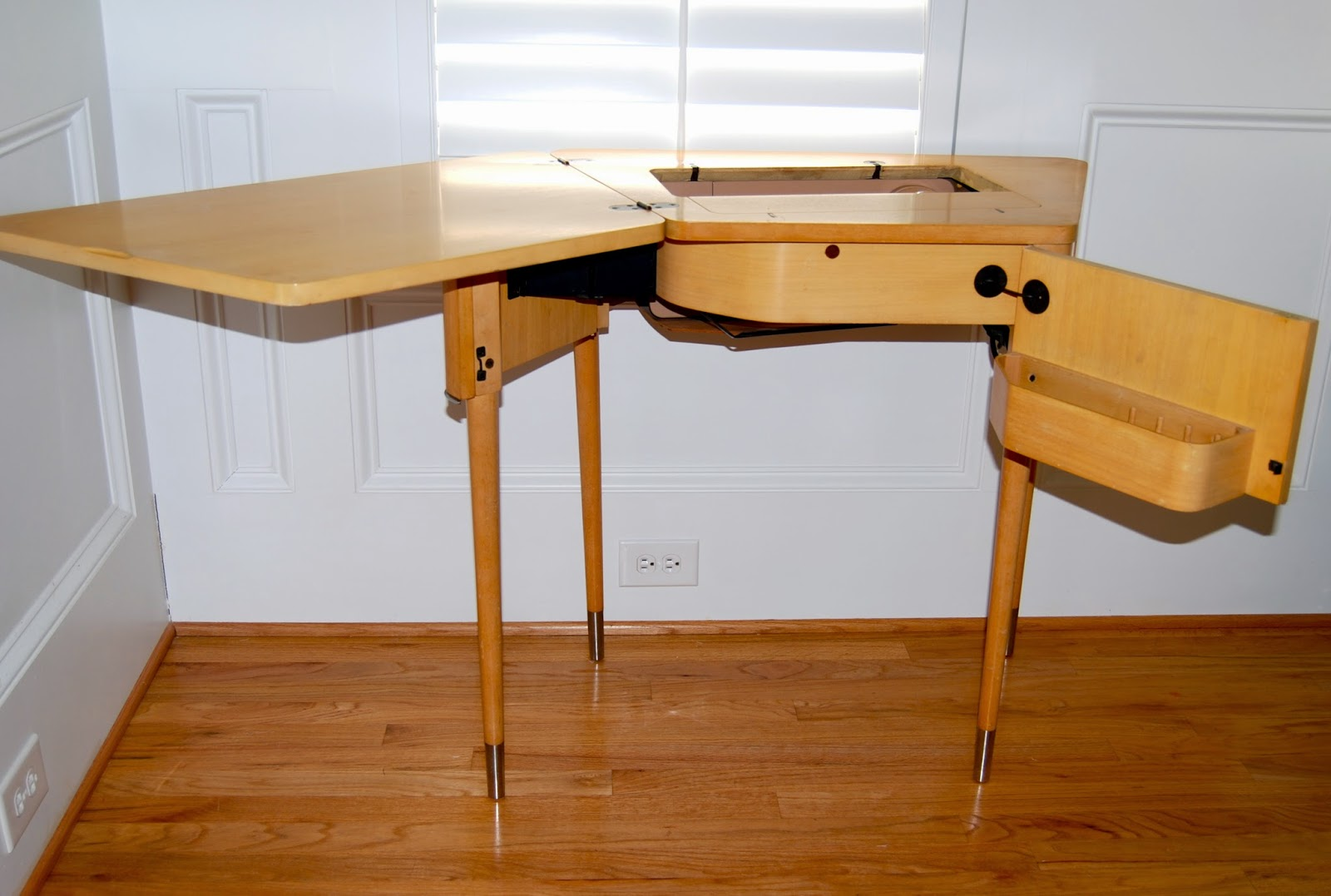 Pedal Sew Lightly: Singer 301A Meets Spinet No. 74