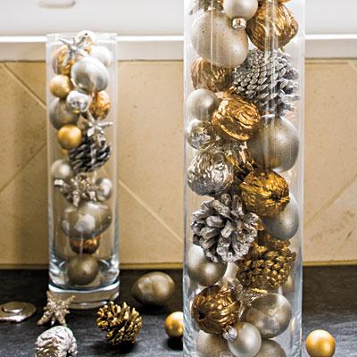decoração de natal com bolas