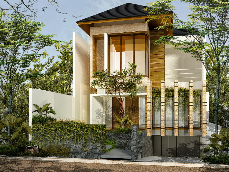 rumah tropis modern 2016
