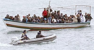 Lampedusa: boatload of refugees #2
