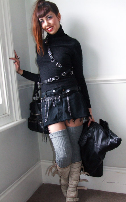 Celebrity Fashions: Diy Leather harness
