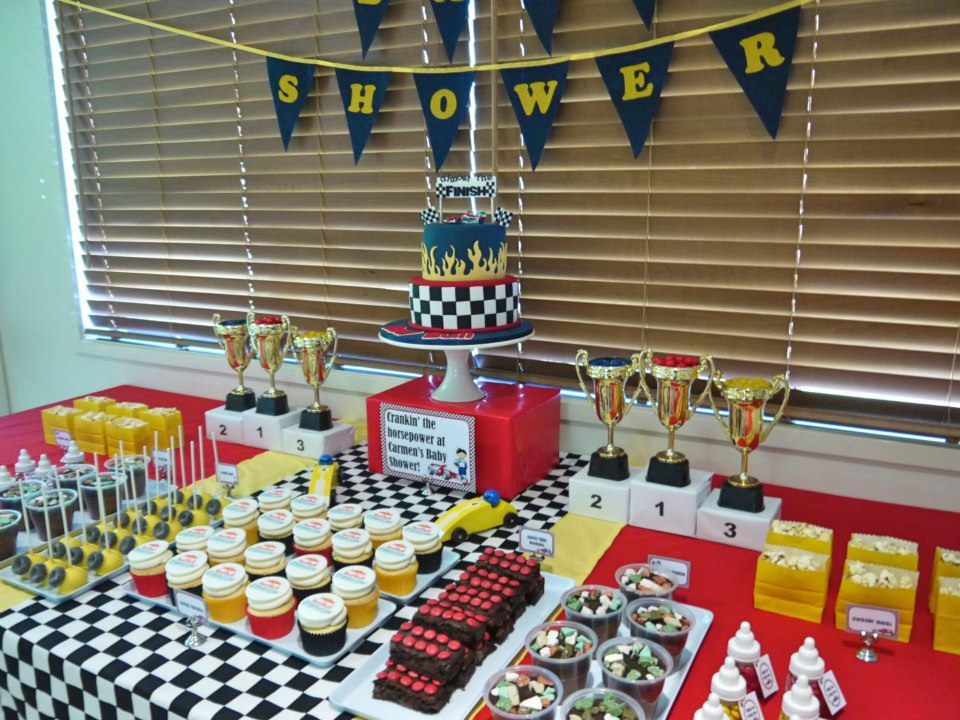 ... super cute Car Racing Themed Baby Shower by A Touch of Style Events