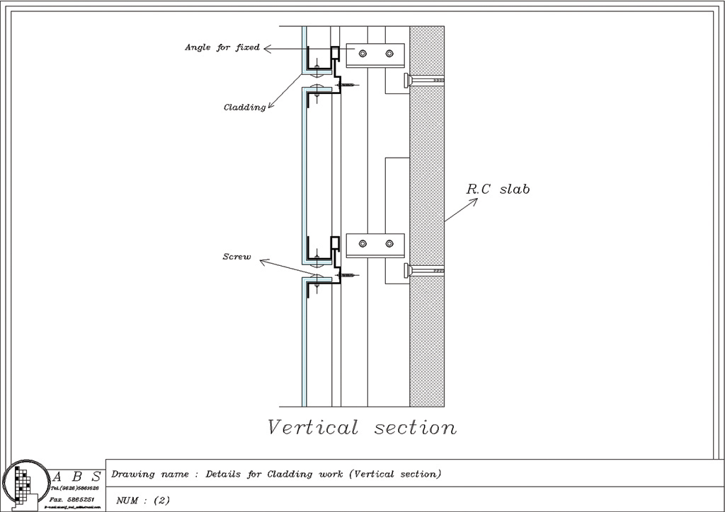 Wall Cladding Details : Beg cladding system glass
