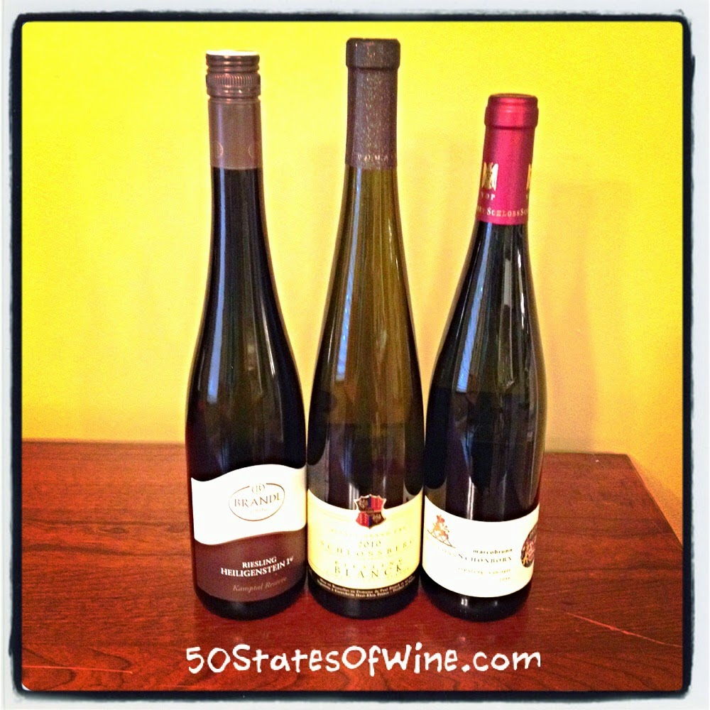 Riesling's Old World terroirs in Alsace, Austria and Germany.