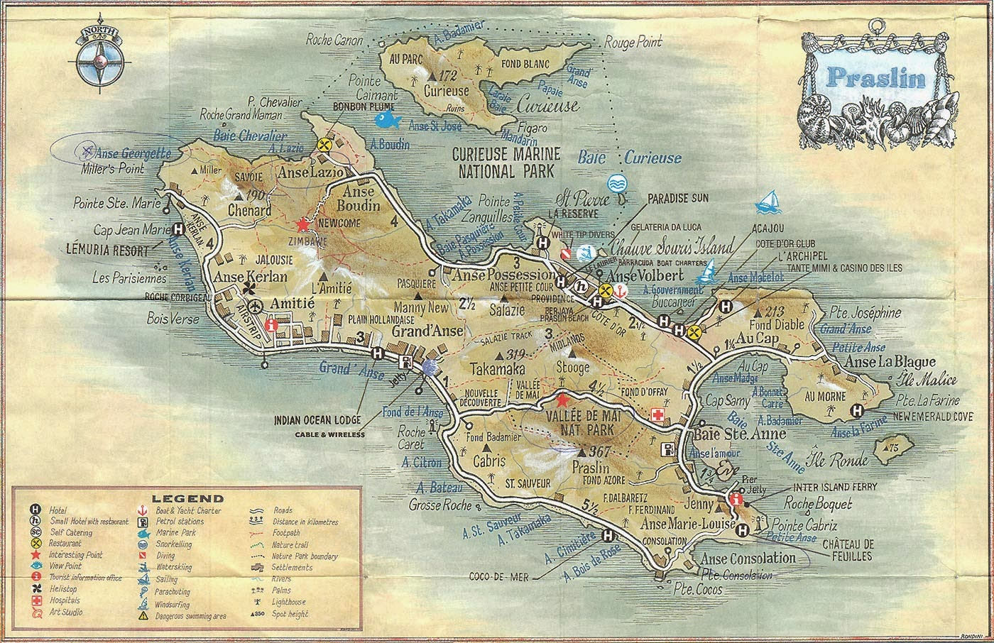 Our Travel affairs of Destinations Less Travelled: Seychelles Maps - Free Copy Maps - 8th Edition