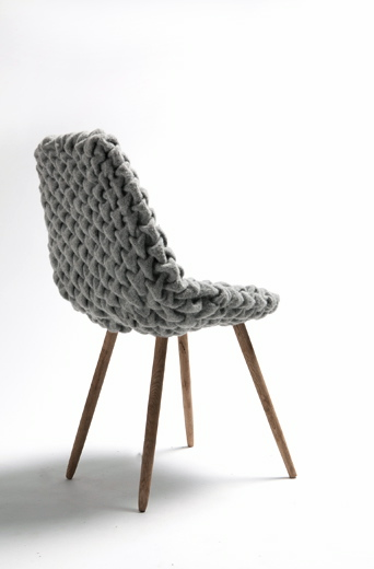 hans sapperlot smok chair eames like chair wool quilted fabric smock smocking embroidery invisible stitch