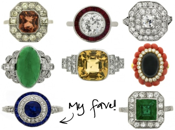 Antique Engagement Rings With Gemstones
