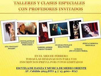 TALLERES Y CLASES ESPECIALES FEBRERO / 2011